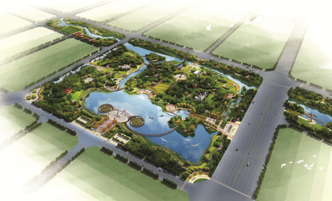 孟州市生态园及一干渠项目建设工程